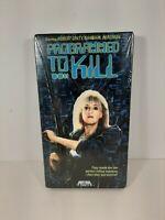New Sealed Programmed To Kill VHS 1987 Media Robert Ginty Sandahl Bergman