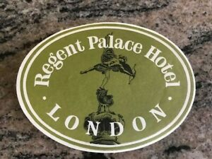London Vintage Hotel Luggage Label - Regent Palace Hotel