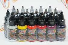 17 colors + reducer Createx Illustration Color Wheel Set 1oz. airbrushing paint