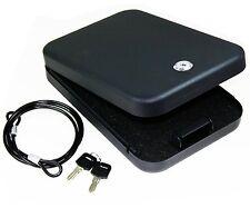 Usa GunClub Full Size Handgun Safe Vault Security Pistol Case Key Lock Box