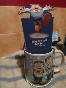 TETLEY TEA GAFFER AND SYDNEY MUG FOLK GIFT SET TEABAGS BRAND NEW