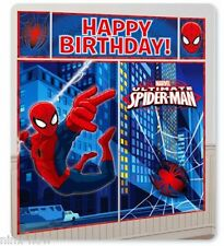 SPIDERMAN Birthday Party Wall Mural Scene Setter Decorating Kit 6 Foot High