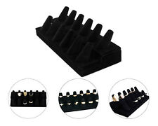 Black Velvet 12 Ring Finger Display Jewelry Holder Retail Showcase Stand