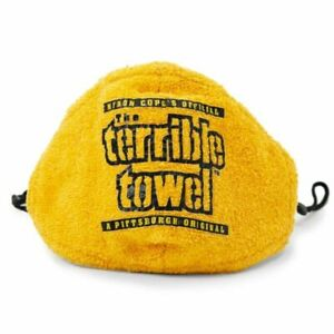 PITTSBURGH STEELERS TERRIBLE TOWEL FACE MASK MYRON COPE NFL LICENSED