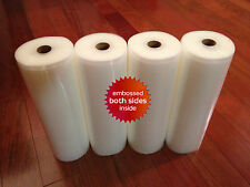 "4 HUGE 11"" x 50' Universal Vacuum Seal Rolls- Food & $$ Saver! FREE SHIP USA!"