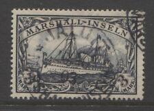 1901 German colonies MARSHALL ISLANDS  3 Mark Yacht used sign,  JALUIT, $ 290.00
