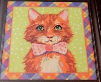 NIP Classy Cat Counted Cross Stitch Zweigart Artiste Kooler Studio Argyle Border