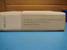 HP 8590 E-SERIES AND L-SERIES SPECTRUM ANALYZERS CABLE TV PROGRAMMERS GUIDE