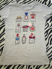 GIRLS SIZE XL EXTRA LARGE DISNEY D-SIGNED GRAY SHIRT TOP PERFUMES GLITTER BEADS