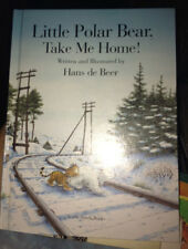 2 Hans de Beer Books Little Polar Bear Paperback & Take Me Home! Tiger Board