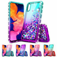 For SAMSUNG GALAXY A10e Glitter Phone Case Cover+Tempered Glass Screen Protector