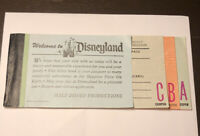 Vtg 1978 Partial Adult Disneyland Ticket Coupon Book- A, B, C