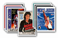 MICHAEL JACKSON  - 10 promotional posters  collectable postcard set # 3