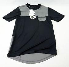 Pearl Izumi Men's Divide Top Cycling Jersey Medium Short Sleeve Black Grey