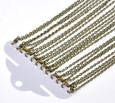 """12 x Link Cable Chains Necklace Antique Bronze 50.9cm(20"""") long (B12922)"""
