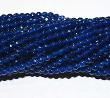 AA 4mm Faceted DARK Blue Sapphire Abacus Gems Loose Beads 15'' PR09
