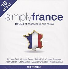 [BRAND NEW] 10CD: SIMPLY FRANCE: VARIOUS ARTISTS