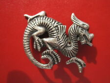DRAGON Pin Fire Lizard Serpent Snake Lucky Brooch Pin - Jewelry