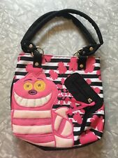 Disney Pook-a-Looz Cheshire Cat Hand bag purse Kids accessories pink fuzzy