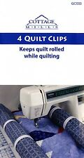 """Quilt Clips 4 Full Size (3"""" Round) Clips, White Plastic, Machine Quilting, QC003"""