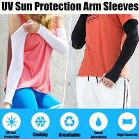 UV Sun Arm Sleeves Protection Cover Warmers Travel Cycling Running Outdoor Sport
