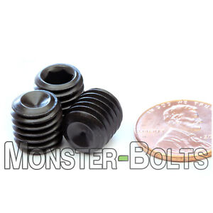 x100 M10 x 1 x 20 Socket Set Flat Point Grub Screw Steel Fine Pitch 100