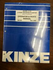 Kinze Model 3110 3 Point Mounted Planter Operator and Parts Manual 3/08