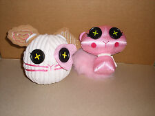 Lalaloopsy Buttontails Plush SUGAR COOKIE Toy White Mouse Pink Cat LOT