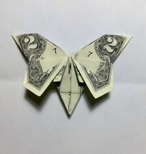 A Butterfly Money Origami - made from a Two Dollar Bill (Lovely Gift)