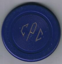 Culver Press Club Illegal Casino Poker Chip Blue Cincinnati Ohio 1916