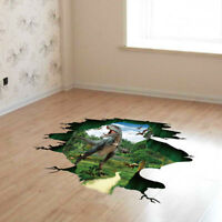 3D Creative Dinosaur Floor Wall Sticker Removable Mural Decals Living Room Decor
