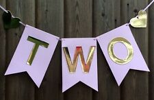 2ND BIRTHDAY GIRLS 'TWO' PARTY BUNTING