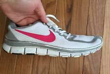 NIKE Free Run 5.0 Womens Sneakers White Pink Gray 11 Shoes Athletic BRS 1000