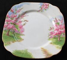 "Vintage ROYAL ALBERT England Bone China BLOSSOM TIME Pattern 7 1/2"" Square Plate"