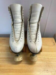Vintage Riedell Gold Star Roller Skates Womens Size 6 - Douglass - Snyder Plates