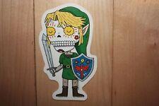 """LEGEND OF ZELDA Link MUERTO Art Sticker Print 2.5 X 4"""" DIA DE LOS muertos pulido"""