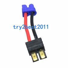 EC3 Female to Traxxas TRX Male Plug Connector Adapter E-Flite Tenergy 14AWG 5cm
