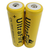 2X 18650 9800mAh Li-ion Battery 3.7V Rechargeable For Flashlight Torch Laser RC
