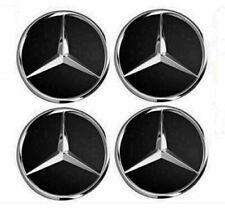 4x75mm Mercedes-Benz Radnabenabdeckung Nabendeckel Nabenkappen Felgendeckel Matt