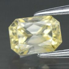 1.04 Ct Natural Yellow Sapphire Ceylon Unheated Untreated Vs Octagon Cut Gem