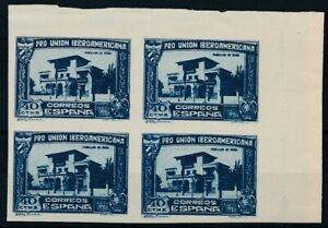 [3977] Spain 1930 Ibero stamps very fine MNH imperforated in bloc of 4