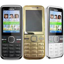 Original Unlocked Nokia C5-00 Black Gold  White 3G 5MP Moblie Bar Phone