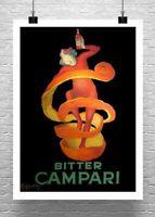 Bitter Campari Leonetto Cappiello Liquor Poster Giclee Print Canvas or Paper