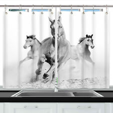 Running Horse Window Treatments for Kitchen Curtains 2 Panels, 55X39 Inches