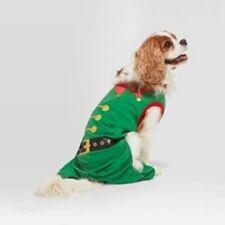 Holiday Fleece Pet Pajamas Small Green Elf Outfit Dog Cat New