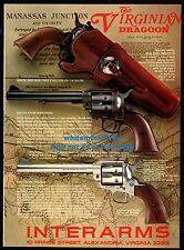1980 VIRGINIA DRAGOON Revolver Interarms PRINT AD Gun Advertising