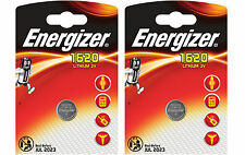 Energizer CR1620 3V Lithium Coin Cell Battery DL1620 KCR1620 BR1620 - Pack of 2
