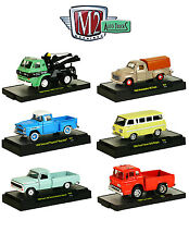 AUTO TRUCKS 6 PIECE SET RELEASE 34 IN ACRYLIC CASES 1/64 BY M2 MACHINES 32500-34