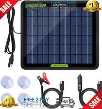 12 Volt Solar Battery Maintainer Waterproof Car Rv Charger Tender Trickle 5W