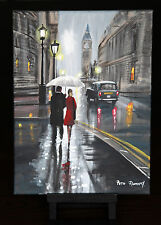 ORIGINAL FINE ART OIL PAINTING BY PETE RUMNEY 'TOGETHER IN LONDON'